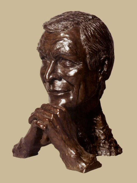 Sculpture en bronze : Christian Chabrol